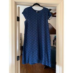 Navy Blue Short Sleeve Dress